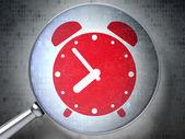 время концепция: будильник с оптического стекла — Стоковое фото