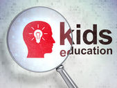 Education concept: Head Whis Light Bulb and Kids Education with — Stock Photo