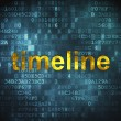 Timeline concept: Timeline on digital background — Stock Photo