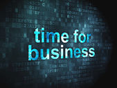 Timeline concept: Time for Business on digital background — 图库照片