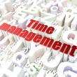 Stock Photo: Timeline concept: Time Management on alphabet background