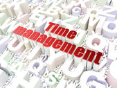 Timeline concept: Time Management on alphabet background — Stock Photo