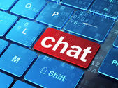 Web design concept: Chat on computer keyboard background — Stock Photo