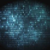 концепция технологии: hex код цифровой фон — Стоковое фото