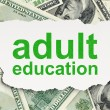 Education concept: Adult Education on Money background — Stock Photo #22592529