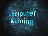 Education concept: Computer Learning on digital background — Stock Photo