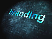 Advertising concept: Branding on digital background — Stock Photo