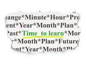 концепция шкалы времени: время, чтобы узнать на фоне — Стоковое фото