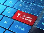 Safety concept: Key and Online Security on computer keyboard bac — Stock Photo