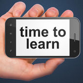 Timeline concept: Time to Learn on smartphone — Stock Photo