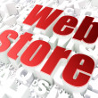 SEO web design concept: Web Store on alphabet background — Stock Photo