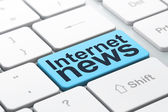 News concept: Internet News on computer keyboard background — Stock Photo