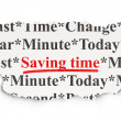 Stock Photo: Time concept: Saving Time on background