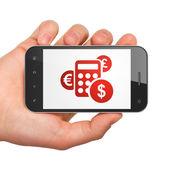 Business concept: Calculator on smartphone — Stock Photo