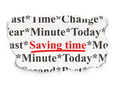 Time concept: Saving Time on background — Stock Photo