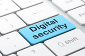 Safety concept: Digital Security on computer keyboard background — Stok fotoğraf