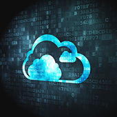 Cloud technology concept: Cloud on digital background — Stock Photo