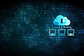 Networking concept: Cloud Network on digital background — Stock Photo