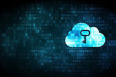 Cloud technology concept: Cloud Whis Key on digital background — Stock Photo