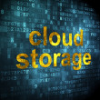 Cloud technology concept: Cloud Storage on digital background - Stock Photo