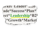 Business concept: Leadership on Paper background — Stock Photo