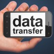 Data concept: Data Transfer on smartphone — Stock Photo