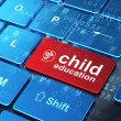 Education concept: Head With Gears and Child Education on comput - Foto Stock