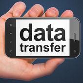 Data concept: Data Transfer on smartphone — 图库照片