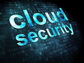 Networking concept: Cloud Security on digital background — ストック写真