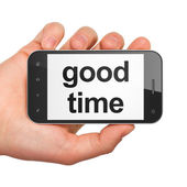Timeline concept: Good Time on smartphone — Stock Photo