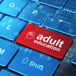 Stock Photo: Education concept: Finance Symbol and Adult Education on compute