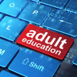 Education concept: Adult Education on computer keyboard backgrou — Stock Photo #23123604