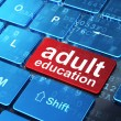 Stock Photo: Education concept: Adult Education on computer keyboard backgrou