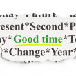 Timeline concept: Good Time on Paper background — Stock Photo