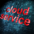 Cloud computing concept: Cloud Service on digital background — Zdjęcie stockowe