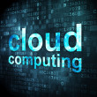 Cloud computing concept: Cloud Computing on digital background — Stock Photo