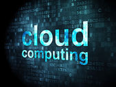 Cloud computing concept: Cloud Computing on digital background — Foto Stock