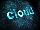 Cloud computing concept: Cloud on digital background — Stockfoto