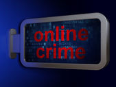 Safety concept: Online Crime on billboard background — Stock Photo