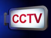Safety concept: CCTV on billboard background — Stock Photo