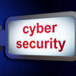 Security concept: Cyber Security on billboard background — Stock Photo