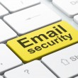 Privacy concept: Email Security on computer keyboard background - Stock fotografie