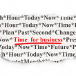 Time concept: Time for Business on Paper background — Stock Photo