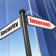 Privacy concept: Internet Security on Business Building backgrou — Stock Photo
