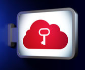 Networking concept: Cloud Whis Key on billboard background — Stock Photo