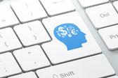 Education concept: Finance Symbol on computer keyboard backgroun — Stock Photo