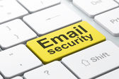 Privacy concept: Email Security on computer keyboard background — Stock Photo