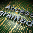Security concept: Access Granted on circuit board background - 