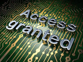 Security concept: Access Granted on circuit board background — Photo