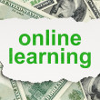 Education concept: Online Learning on Money background — ストック写真 #24820481